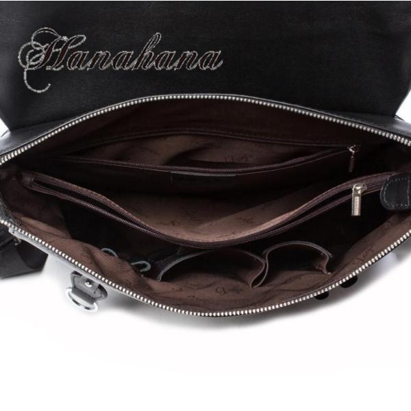ショルダーバッグ メンズバッグ 斜めがけ 本革 牛革 iPad A4 鞄  メッセンジャーバッグ ビジネスバッグ レザー 大容量 通学 通勤 カジュアル カバン 8787-store 03