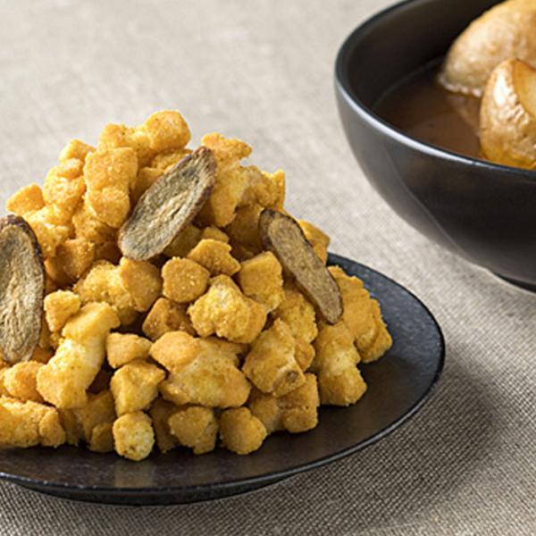 送料込 ホリ じゃがいもコロコロ おかき 札幌名物料理 スープカレー味 170g [5袋セット] HORI 北海道産じゃがいも、もち米、十勝産ごぼう使用 北海道土産 ギフト
