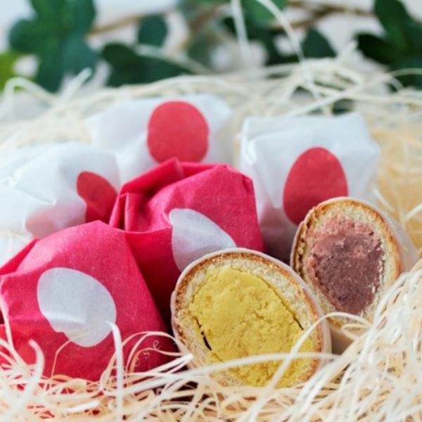 丹頂鶴の卵アソート プレーン・いちご 10個入 北海道土産 チョコ饅頭
