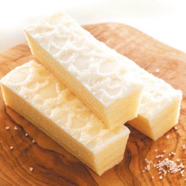 柳月 三方六の小割 濃い白い小割 5本入  / 練乳ホワイトチョコ バウムクーヘン【冷】
