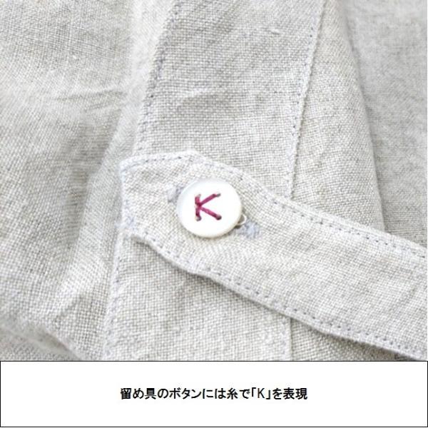 kapoc カポック 麻 リネン 割烹着 スモック コート 2WAY おしゃれ KP-001|999a|17