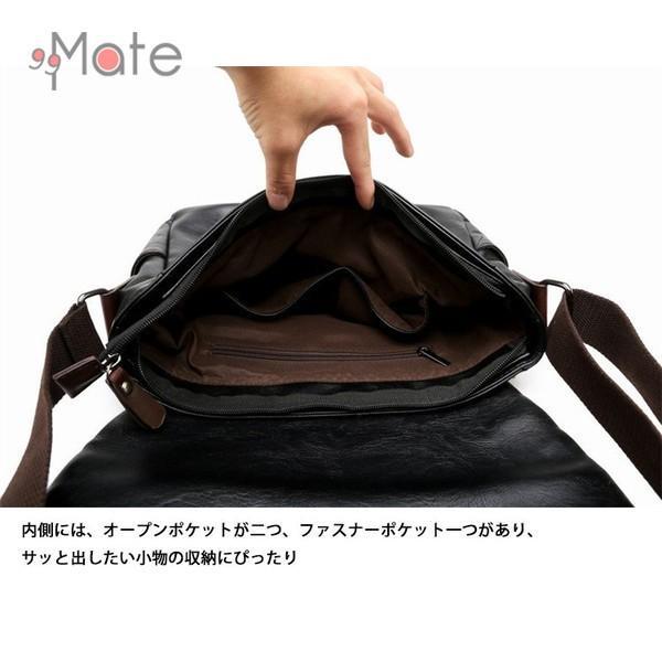 送料無料 ショルダーバッグ メッセンジャーバッグ メンズ バッグ カバン A4 斜めがけ ワンショルダー 通勤 通学 出張|99mate|10
