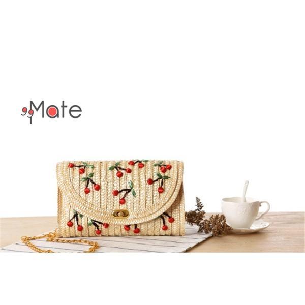 ミニショルダーバッグ レディース バッグ 天然素材 編みバッグ ママバッグ ストロー素材 ミニバッグ かわいい|99mate|03