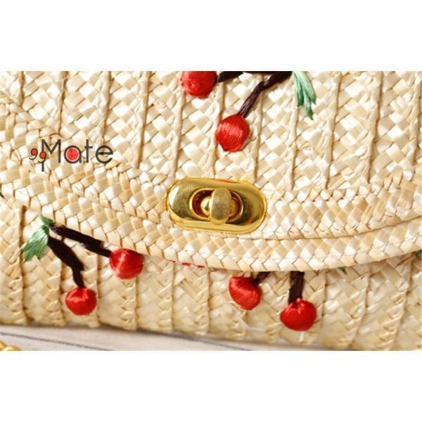 ミニショルダーバッグ レディース バッグ 天然素材 編みバッグ ママバッグ ストロー素材 ミニバッグ かわいい|99mate|06