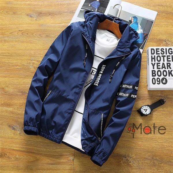 ミリタリージャケット メンズ ブルゾン フード付き ウィンドブレーカー ジップアップパーカー ジャケット アウター 2019 春物 99mate 03