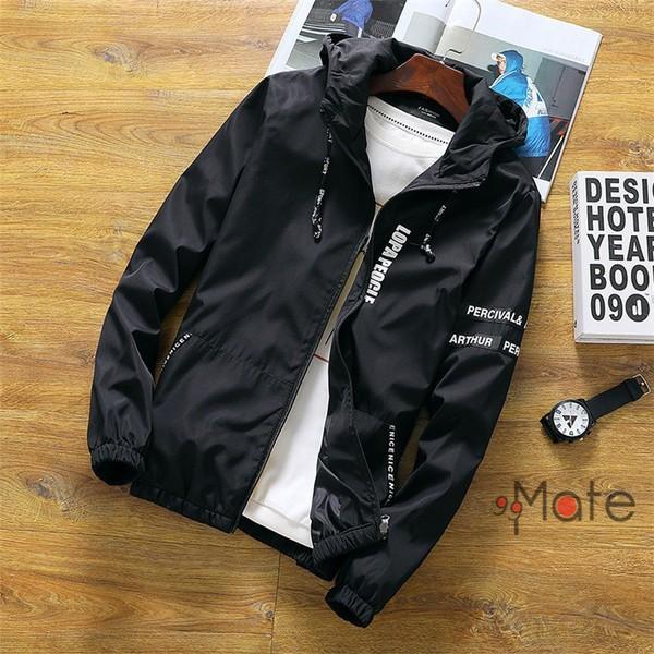 ミリタリージャケット メンズ ブルゾン フード付き ウィンドブレーカー ジップアップパーカー ジャケット アウター 2019 春物 99mate 04