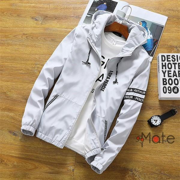 ミリタリージャケット メンズ ブルゾン フード付き ウィンドブレーカー ジップアップパーカー ジャケット アウター 2019 春物 99mate 05