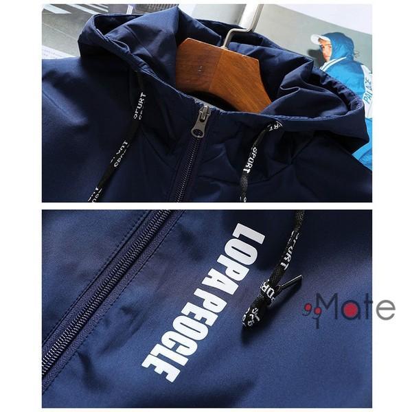 ミリタリージャケット メンズ ブルゾン フード付き ウィンドブレーカー ジップアップパーカー ジャケット アウター 2019 春物 99mate 07