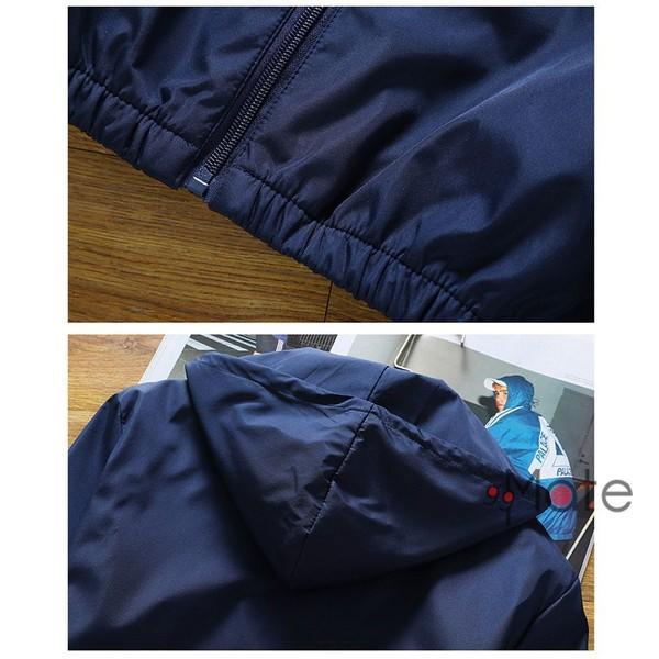 ミリタリージャケット メンズ ブルゾン フード付き ウィンドブレーカー ジップアップパーカー ジャケット アウター 2019 春物 99mate 09