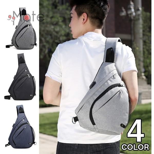 ワンショルダーバッグ ボディバッグ メンズ ショルダーバッグ USB充電ポート バッグ 肩掛け