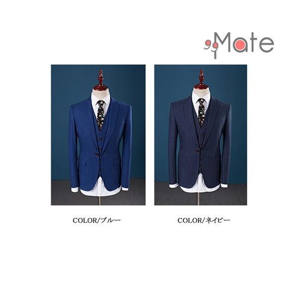 ビジネススーツ スリーピーススーツ メンズ フォーマル 紳士服 結婚式 スーツ 就職 入学 卒業式 1つボタン夏 新生活|99mate|03