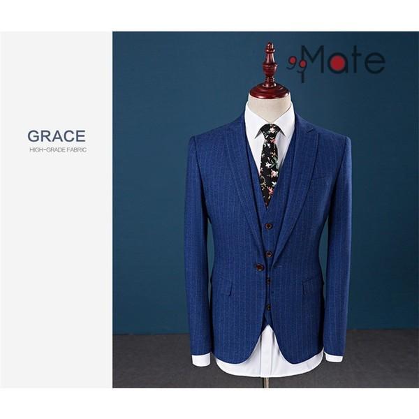 ビジネススーツ スリーピーススーツ メンズ フォーマル 紳士服 結婚式 スーツ 就職 入学 卒業式 1つボタン夏 新生活|99mate|05