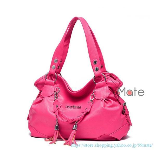 ショルダーバッグ レディース トートバッグ バッグ ハンドバッグ 通勤バッグ カバン フリンジ 可愛いバッグ A4 手提げバッグ|99mate|16