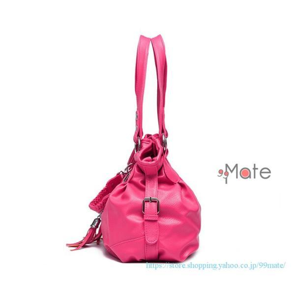 ショルダーバッグ レディース トートバッグ バッグ ハンドバッグ 通勤バッグ カバン フリンジ 可愛いバッグ A4 手提げバッグ|99mate|17