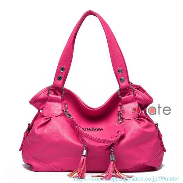ショルダーバッグ レディース トートバッグ バッグ ハンドバッグ 通勤バッグ カバン フリンジ 可愛いバッグ A4 手提げバッグ|99mate|05