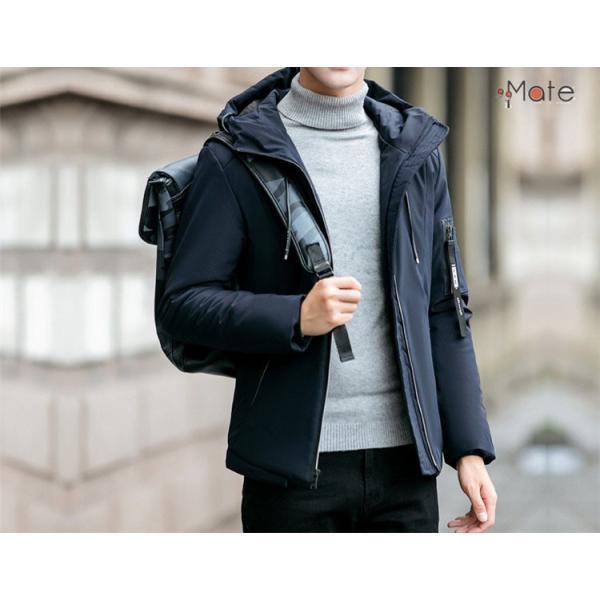 中綿ジャケット メンズジャケット フード付き ショート丈 コート 中綿コート 暖かい ファッション アウター 秋冬 99mate 11