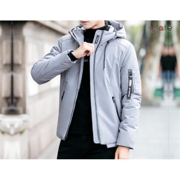 中綿ジャケット メンズジャケット フード付き ショート丈 コート 中綿コート 暖かい ファッション アウター 秋冬 99mate 12