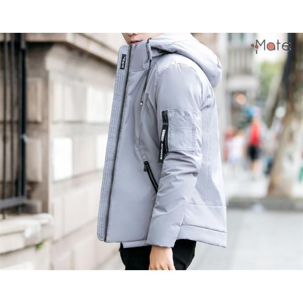 中綿ジャケット メンズジャケット フード付き ショート丈 コート 中綿コート 暖かい ファッション アウター 秋冬 99mate 13