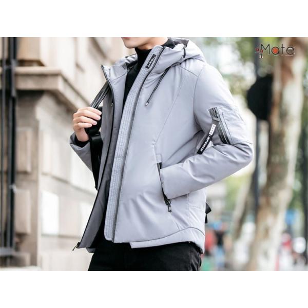 中綿ジャケット メンズジャケット フード付き ショート丈 コート 中綿コート 暖かい ファッション アウター 秋冬 99mate 14