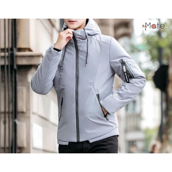 中綿ジャケット メンズジャケット フード付き ショート丈 コート 中綿コート 暖かい ファッション アウター 秋冬 99mate 15