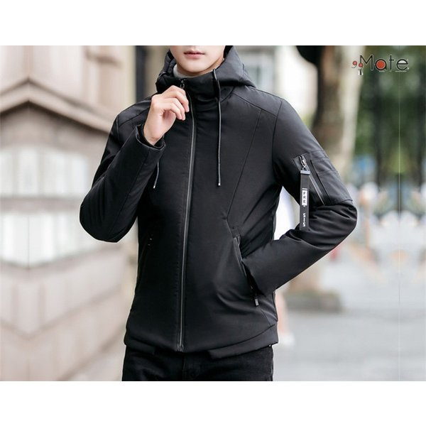 中綿ジャケット メンズジャケット フード付き ショート丈 コート 中綿コート 暖かい ファッション アウター 秋冬 99mate 16