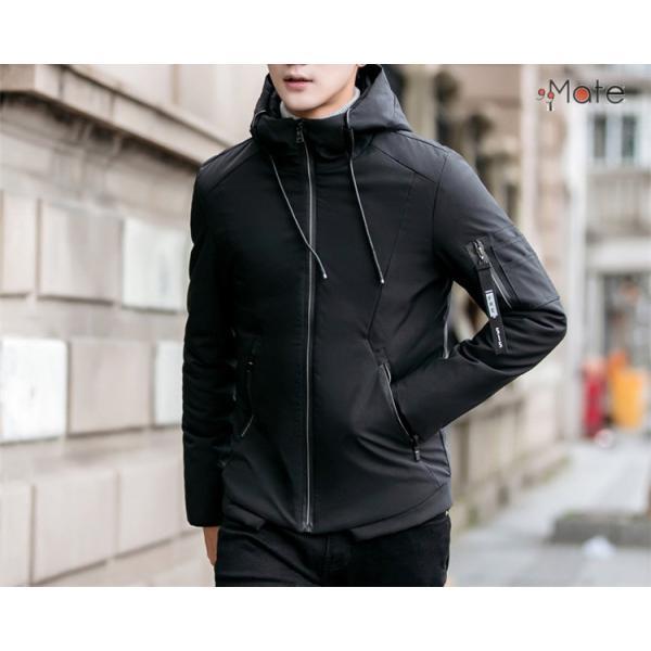 中綿ジャケット メンズジャケット フード付き ショート丈 コート 中綿コート 暖かい ファッション アウター 秋冬 99mate 17