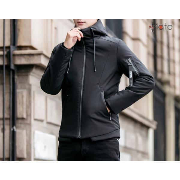 中綿ジャケット メンズジャケット フード付き ショート丈 コート 中綿コート 暖かい ファッション アウター 秋冬 99mate 18