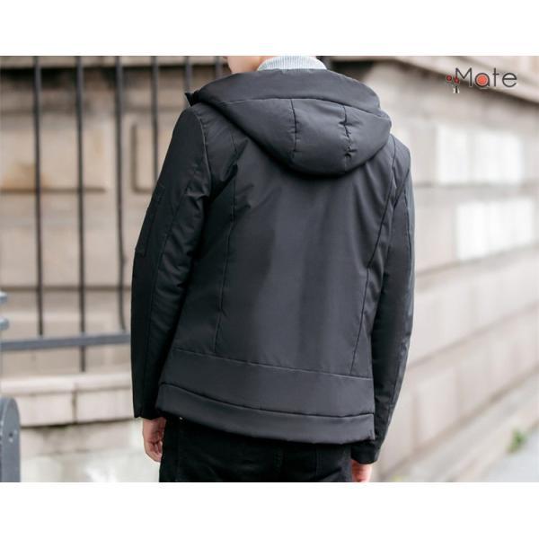 中綿ジャケット メンズジャケット フード付き ショート丈 コート 中綿コート 暖かい ファッション アウター 秋冬 99mate 19