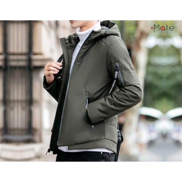 中綿ジャケット メンズジャケット フード付き ショート丈 コート 中綿コート 暖かい ファッション アウター 秋冬 99mate 03