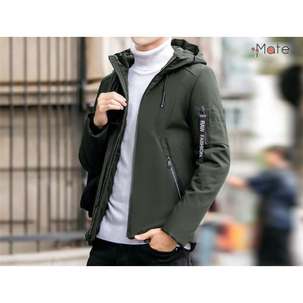 中綿ジャケット メンズジャケット フード付き ショート丈 コート 中綿コート 暖かい ファッション アウター 秋冬 99mate 04