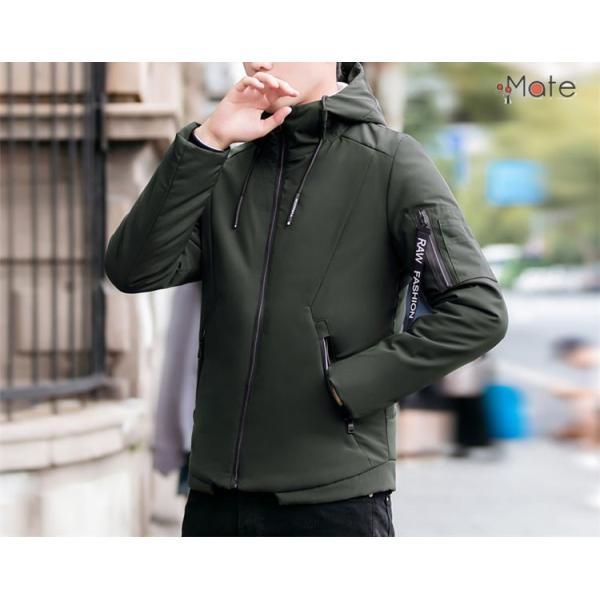 中綿ジャケット メンズジャケット フード付き ショート丈 コート 中綿コート 暖かい ファッション アウター 秋冬 99mate 05