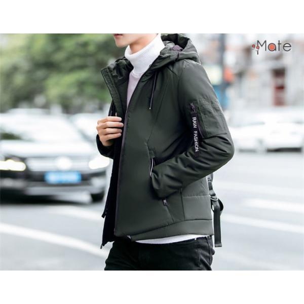 中綿ジャケット メンズジャケット フード付き ショート丈 コート 中綿コート 暖かい ファッション アウター 秋冬 99mate 06