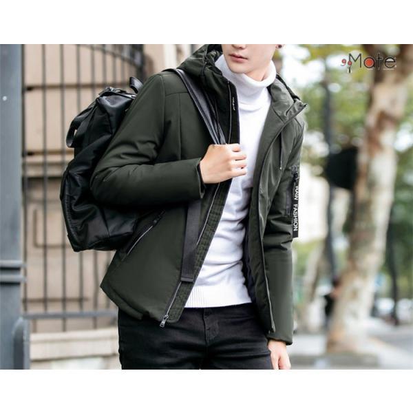 中綿ジャケット メンズジャケット フード付き ショート丈 コート 中綿コート 暖かい ファッション アウター 秋冬 99mate 07