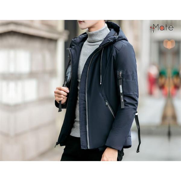 中綿ジャケット メンズジャケット フード付き ショート丈 コート 中綿コート 暖かい ファッション アウター 秋冬 99mate 08