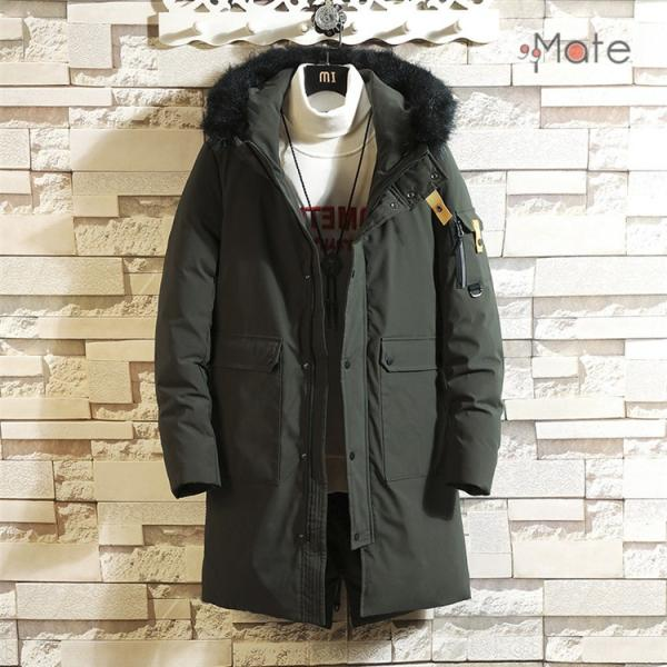 フード付き メンズ 中綿ジャケット ビジネスコート メンズ中綿コート ロングコート ジャケット 防寒着 防寒防風 秋冬 99mate 05