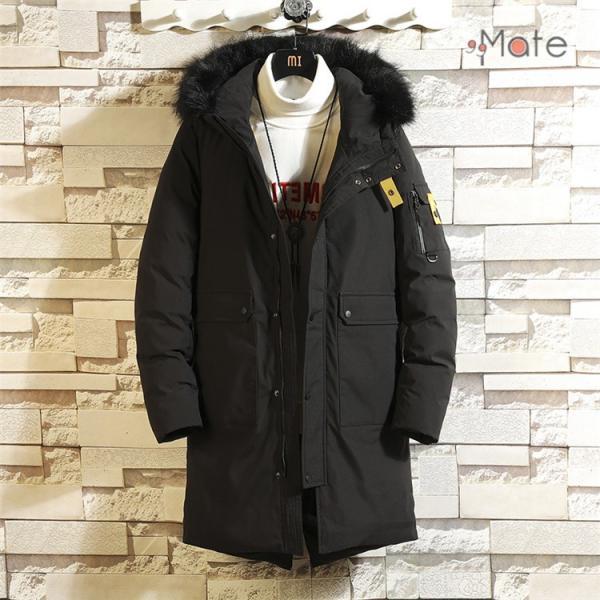 フード付き メンズ 中綿ジャケット ビジネスコート メンズ中綿コート ロングコート ジャケット 防寒着 防寒防風 秋冬 99mate 07