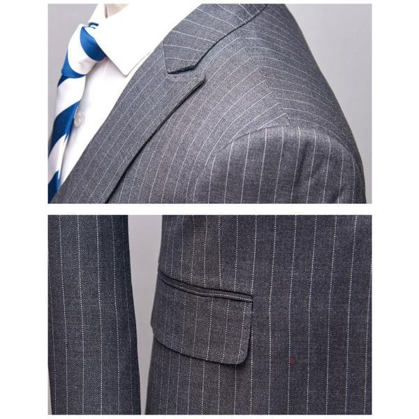 スリーピーススーツ メンズ 3ピーススーツ 1つボタン スリムスーツ ビジネススーツ 紳士服 ストライプ柄 新生活 就活|99mate|13