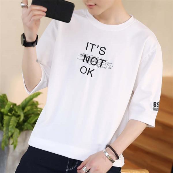 半袖Tシャツ メンズ 半袖 白Tシャツ クルーネック プリントTシャツ 涼しい カジュアル ティーシャツ お兄系 夏 サマー 99mate 13