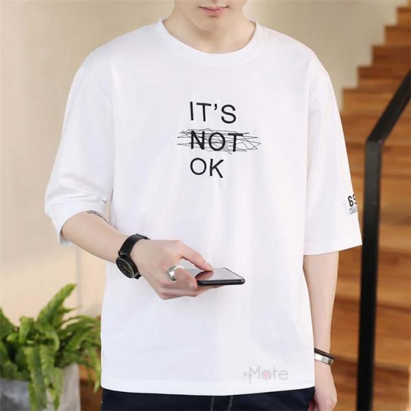 半袖Tシャツ メンズ 半袖 白Tシャツ クルーネック プリントTシャツ 涼しい カジュアル ティーシャツ お兄系 夏 サマー 99mate 14