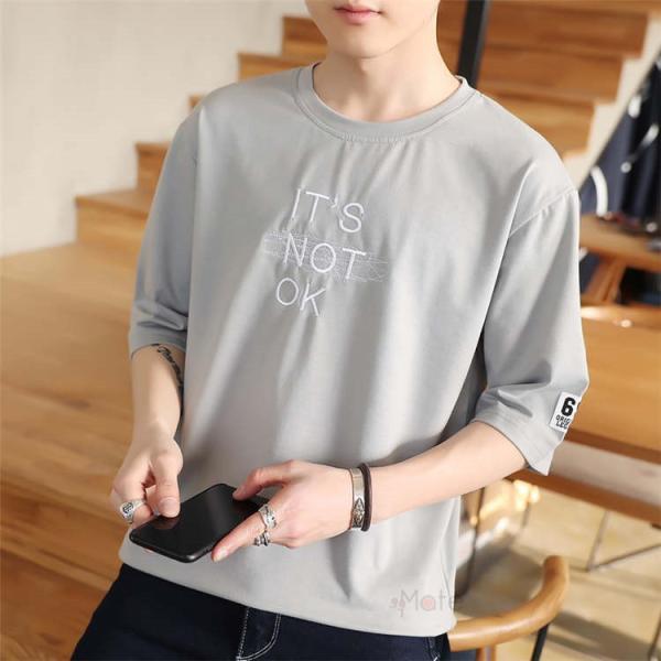 半袖Tシャツ メンズ 半袖 白Tシャツ クルーネック プリントTシャツ 涼しい カジュアル ティーシャツ お兄系 夏 サマー 99mate 17