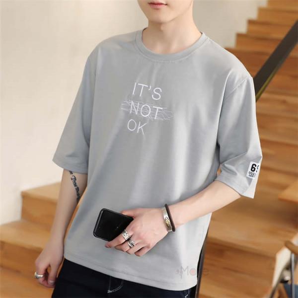半袖Tシャツ メンズ 半袖 白Tシャツ クルーネック プリントTシャツ 涼しい カジュアル ティーシャツ お兄系 夏 サマー 99mate 20