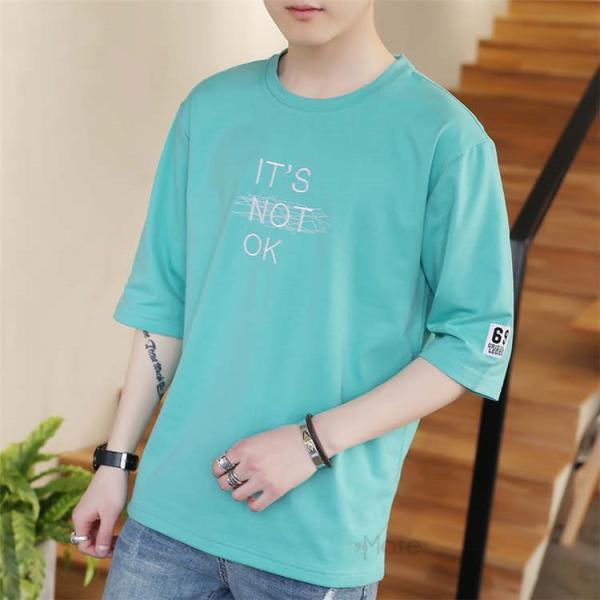 半袖Tシャツ メンズ 半袖 白Tシャツ クルーネック プリントTシャツ 涼しい カジュアル ティーシャツ お兄系 夏 サマー 99mate 03