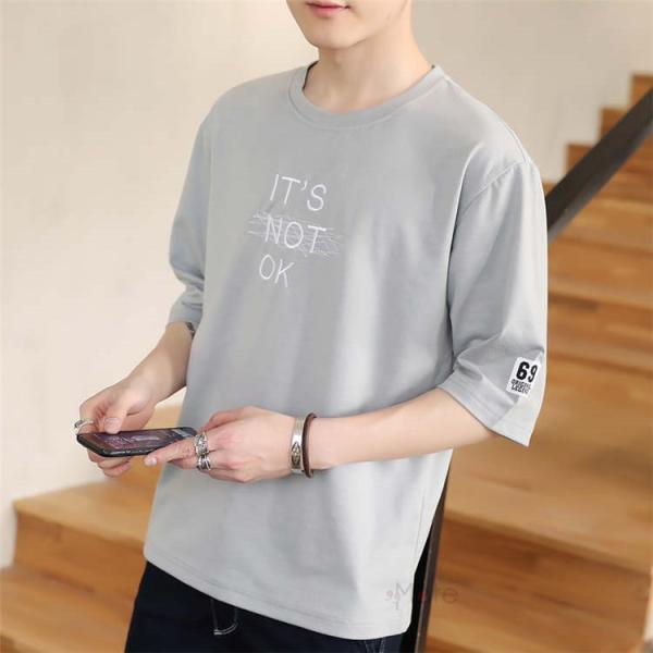 半袖Tシャツ メンズ 半袖 白Tシャツ クルーネック プリントTシャツ 涼しい カジュアル ティーシャツ お兄系 夏 サマー 99mate 21