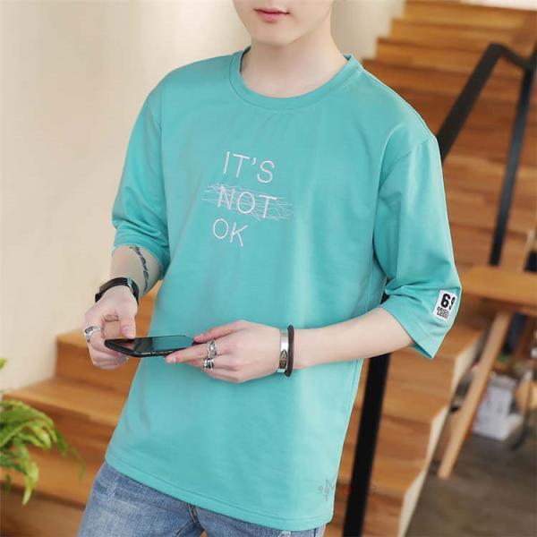 半袖Tシャツ メンズ 半袖 白Tシャツ クルーネック プリントTシャツ 涼しい カジュアル ティーシャツ お兄系 夏 サマー 99mate 04