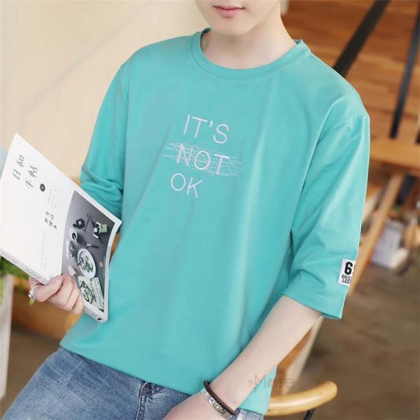 半袖Tシャツ メンズ 半袖 白Tシャツ クルーネック プリントTシャツ 涼しい カジュアル ティーシャツ お兄系 夏 サマー 99mate 05