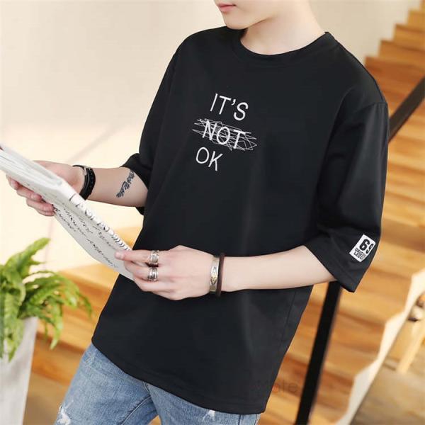 半袖Tシャツ メンズ 半袖 白Tシャツ クルーネック プリントTシャツ 涼しい カジュアル ティーシャツ お兄系 夏 サマー 99mate 10