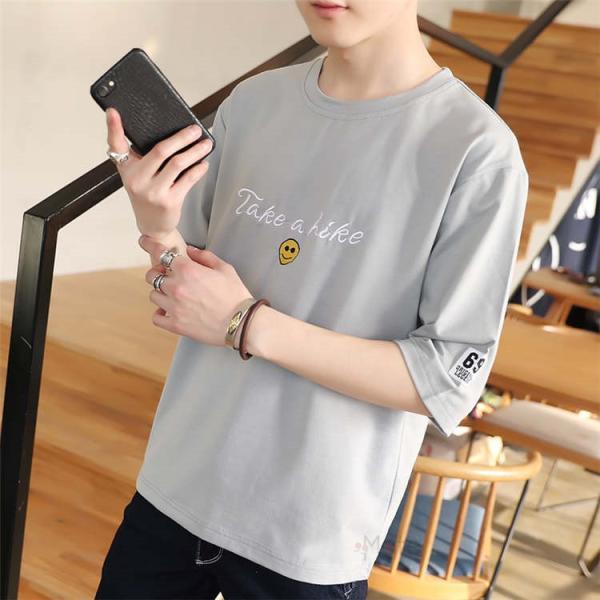 ティーシャツ メンズ 半袖Tシャツ 無地Tシャツ サマー Tシャツ クルーネック 夏 サマー カジュアル お兄系 涼しい 99mate 12