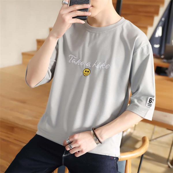 ティーシャツ メンズ 半袖Tシャツ 無地Tシャツ サマー Tシャツ クルーネック 夏 サマー カジュアル お兄系 涼しい 99mate 13