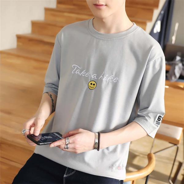 ティーシャツ メンズ 半袖Tシャツ 無地Tシャツ サマー Tシャツ クルーネック 夏 サマー カジュアル お兄系 涼しい 99mate 14