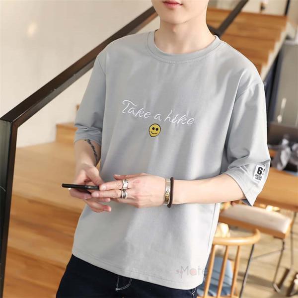 ティーシャツ メンズ 半袖Tシャツ 無地Tシャツ サマー Tシャツ クルーネック 夏 サマー カジュアル お兄系 涼しい 99mate 15